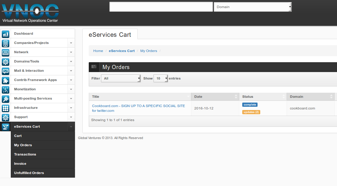 Order-eServices